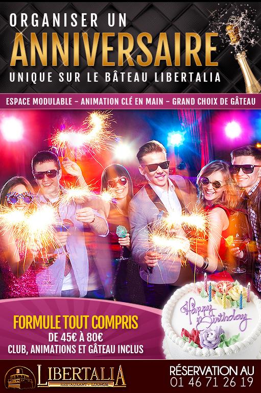 Organiser anniversaire au Libertalia